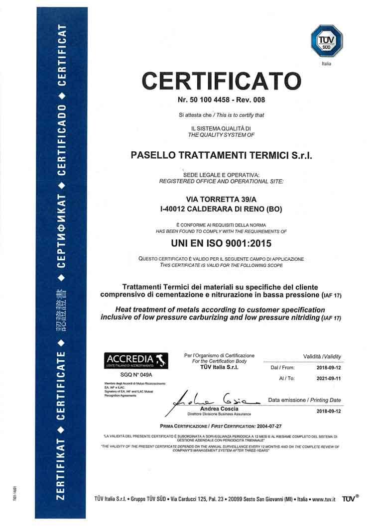 ISO 9001 TUV-2013 avvicina iso ts 16949