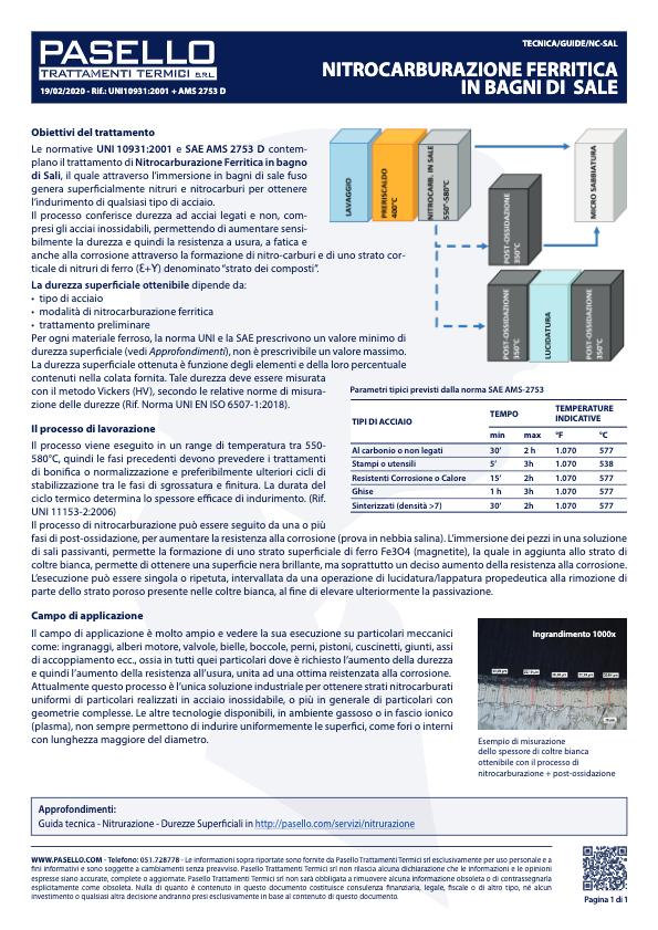 Guida tecnica - Nitrocarburazione ferritica in bagni di sale